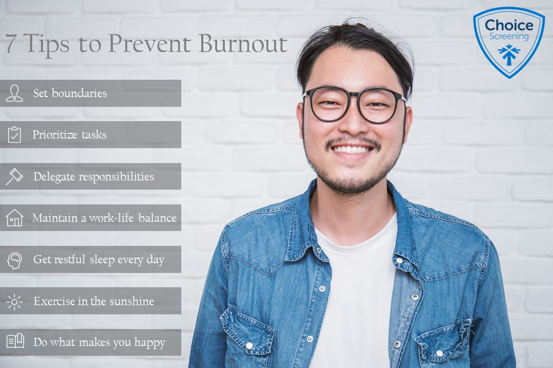 7 Tips to Prevent Burnout